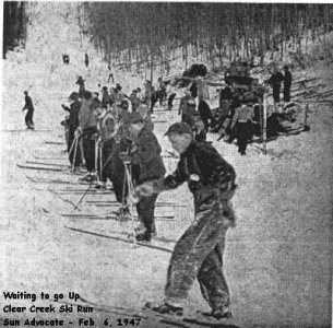 Skiers at Clear Creek
